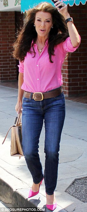 candy washington_jeans_button up_lisa vanderpump