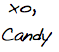 candy washington signature
