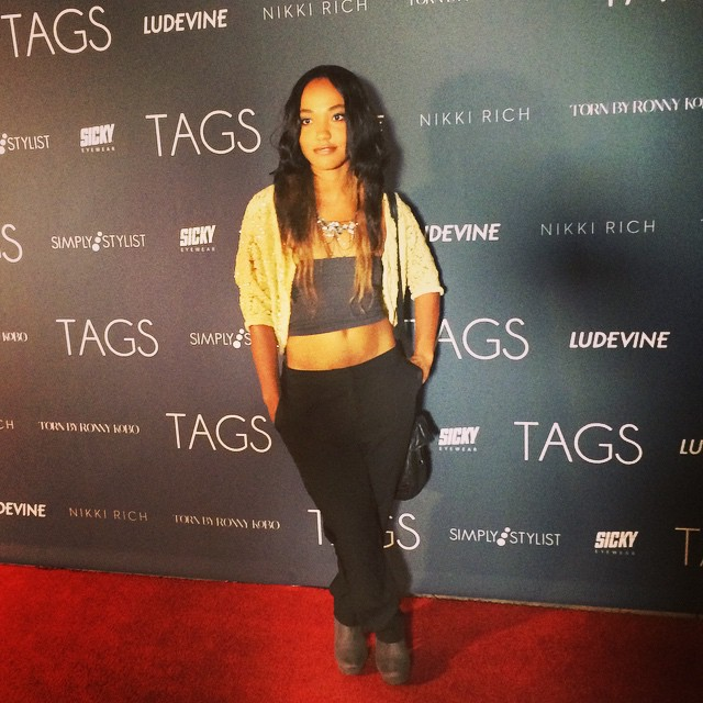 Rocking my Metaphor black trousers on the red carpet at the TAGS 2nd anniversary fashion event.