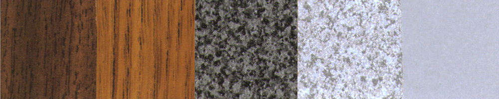 Walnut / Med Oak / Fusion Maple / Blk Granite Gray Granite / Dove Gray