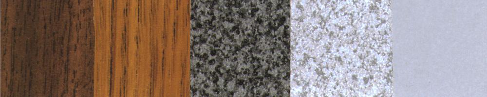 Walnut / Med Oak / Fusion Maple / Blk Granite Gray Granite / Dove Gray