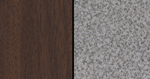 Walnut / Grey Granite Econoline Finishes Available