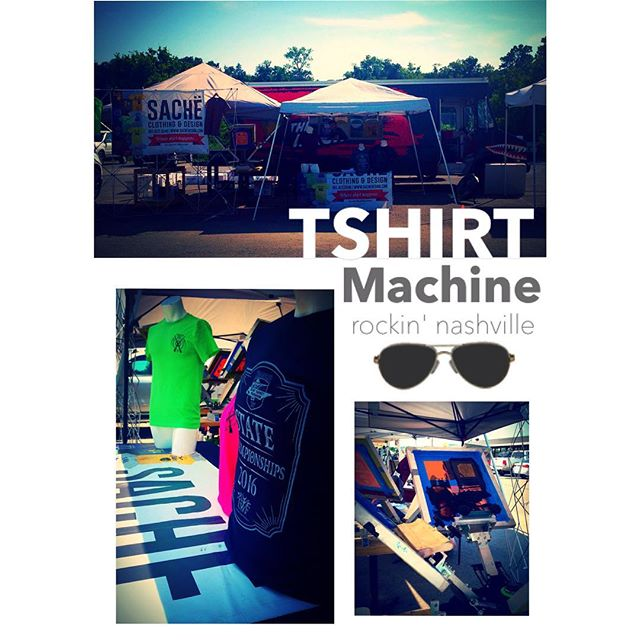 The TSHIRT Machine is setup and rockin' for day 5 of the @twfoutofdoors TNSCTP State Championships!!! #sache #tshirtmachine #twf #memphis2nashville #memphresh #memphresh901 #theoriginal #downtownmemphis #choose901
