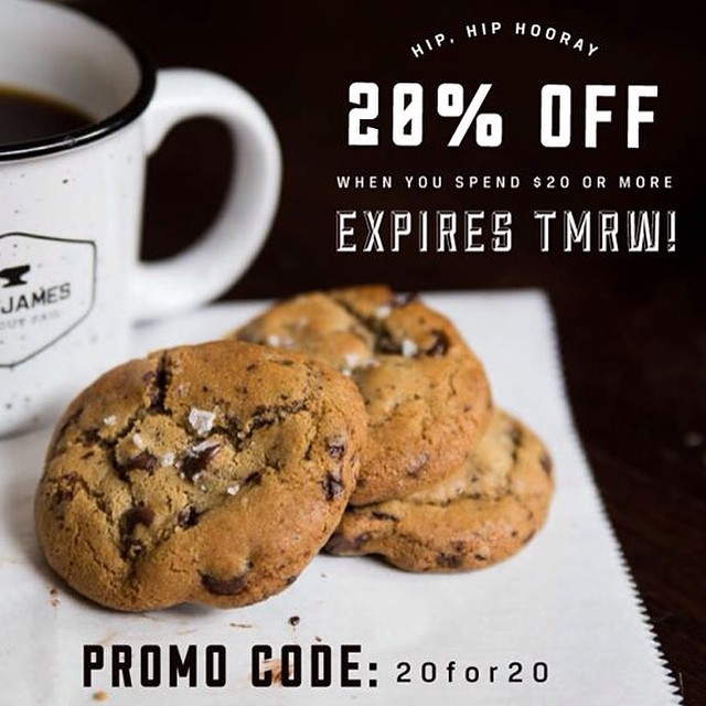 Santa likes coffee with his cookies. 20% off on anything in our webshop when you spend $20 or more. Sale ends tomorrow at 11:59pm PST. Use code 20for20 at checkout. Giddy up!