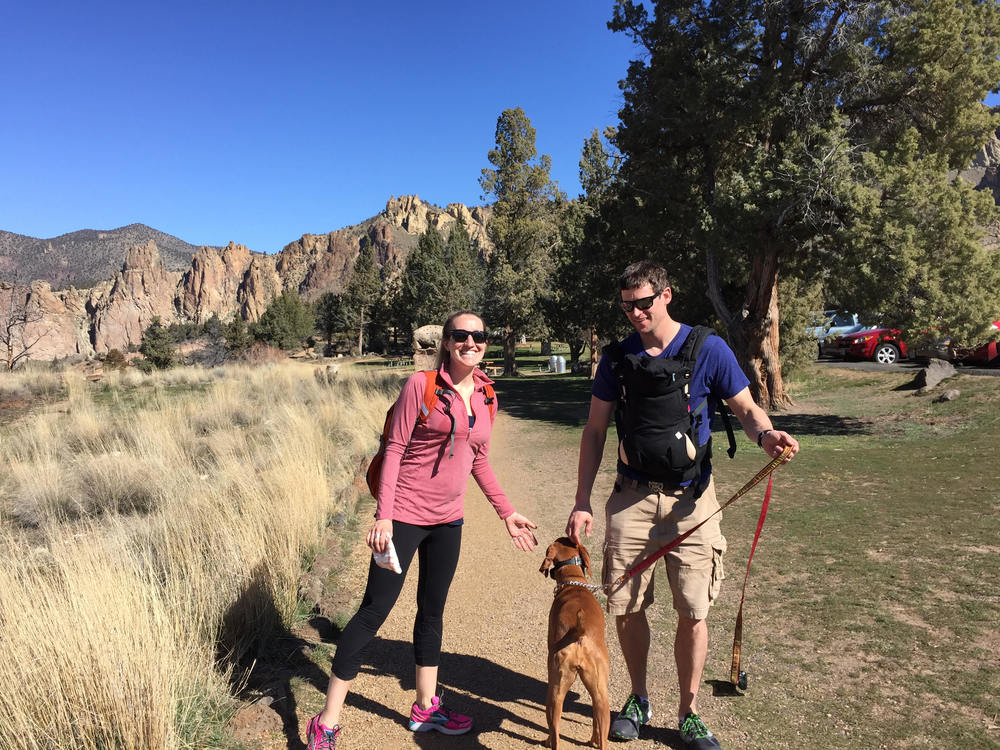 Camden's first hike at Smith Rock!!!
