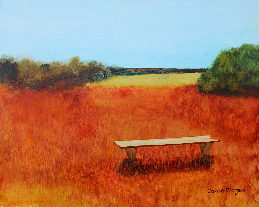 """The Bench"" Watercolour on Gesso Board"