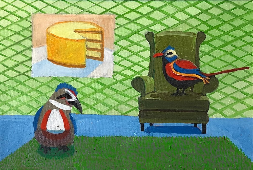 Oil on canvas, 10 X 15 inches, framed. $ 650  INQUIRE