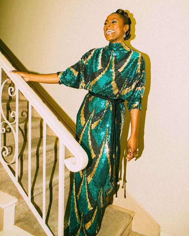 Blushed the whole time shooting this QUEEN BEYOND. SHE IS THE COOLEST PERSON IRL I STANNED TF OUT.  @issarae getting ready for the NAACP Image Awards yesterday for @wmag X @marcjacobs styling @jasonrembert story @xoryma  makeup @joannasimkin 💚💚💚💚💚💚💚 thank you to @aaronkurlander and @michael_beckert for the op❤️❤️❤️❤️