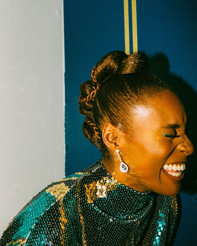 GHEEEEEEZE. SHE'S PERFECT. An honor to shoot @issarae getting ready for the NAACP Image Awards for @wmag x @marcjacobs