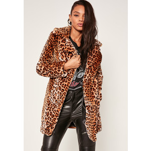 Missguided Leopard Coat