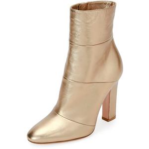 Gianvito Rossi Metallic Leather 105mm Boot, Glam