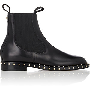 VALENTINO Soul Rockstud Leather Chelsea Boots