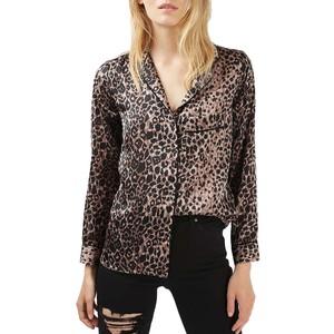 Topshop Leopard Blouse