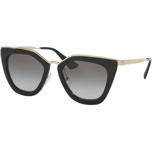 Prada Gradient Metal-Trim Geometric Cat-Eye Sunglasses, Black