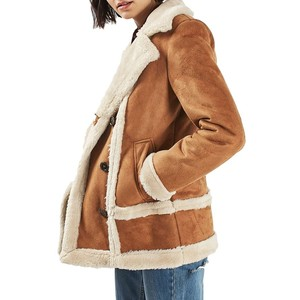 Topshop Faux Shearling Car Coat