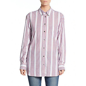 Equipment Margaux Striped Button-Down Shirt