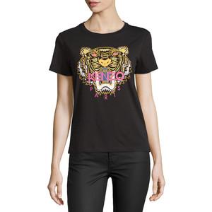 Kenzo Light Single Jersey Tiger T-Shirt, Black