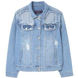 MANGO Decorative rips denim jacket