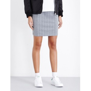 CHOCOOLATE Pinstriped stretch-jersey skirt