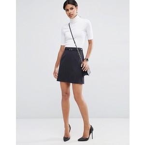 ASOS Belted Mini Skirt in Pinstripe