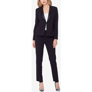 Tahari ASL Faux-Leather-Trim Pantsuit