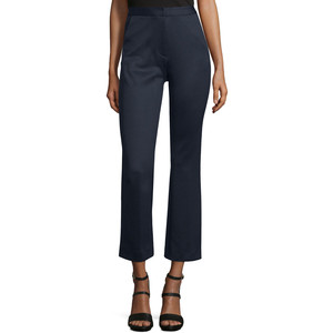 Self-Portrait High-Waist Flare-Leg Cropped Trouser