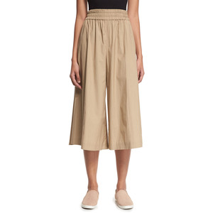 Acne Studios Poplin Cropped Palazzo Pants, Light Beige