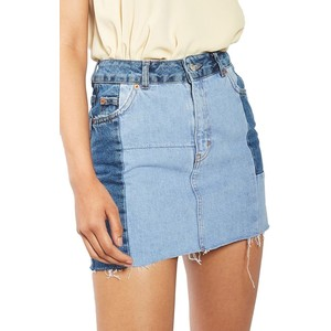 Colorblock Denim Miniskirt TOPSHOP