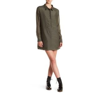 One Teaspoon Island Luxe Silk Blend Shirt Dress
