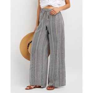 Striped Drawstring Palazzo Pants