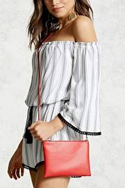 Forever 21 Mini Zip-Top Crossbody Bag RED