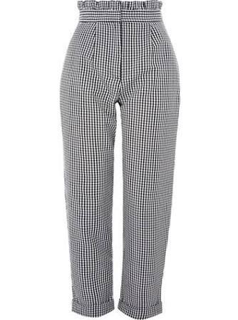 Gingham Mensy Ruffle Waist Trousers