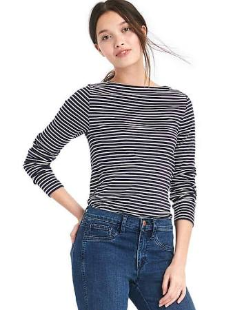Modern stripe long sleeve tee
