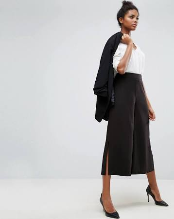 ASOS Mix & Match Clean Culotte With Side Split