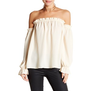 Vanity Room Off-the-Shoulder Peasant Blouse