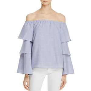 WAYF Brayden Off-the-Shoulder Bell Sleeve Top