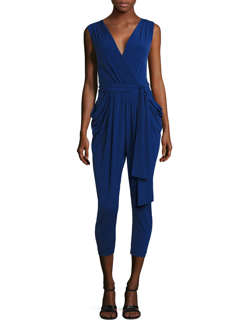 Draped Wrap Jumpsuit