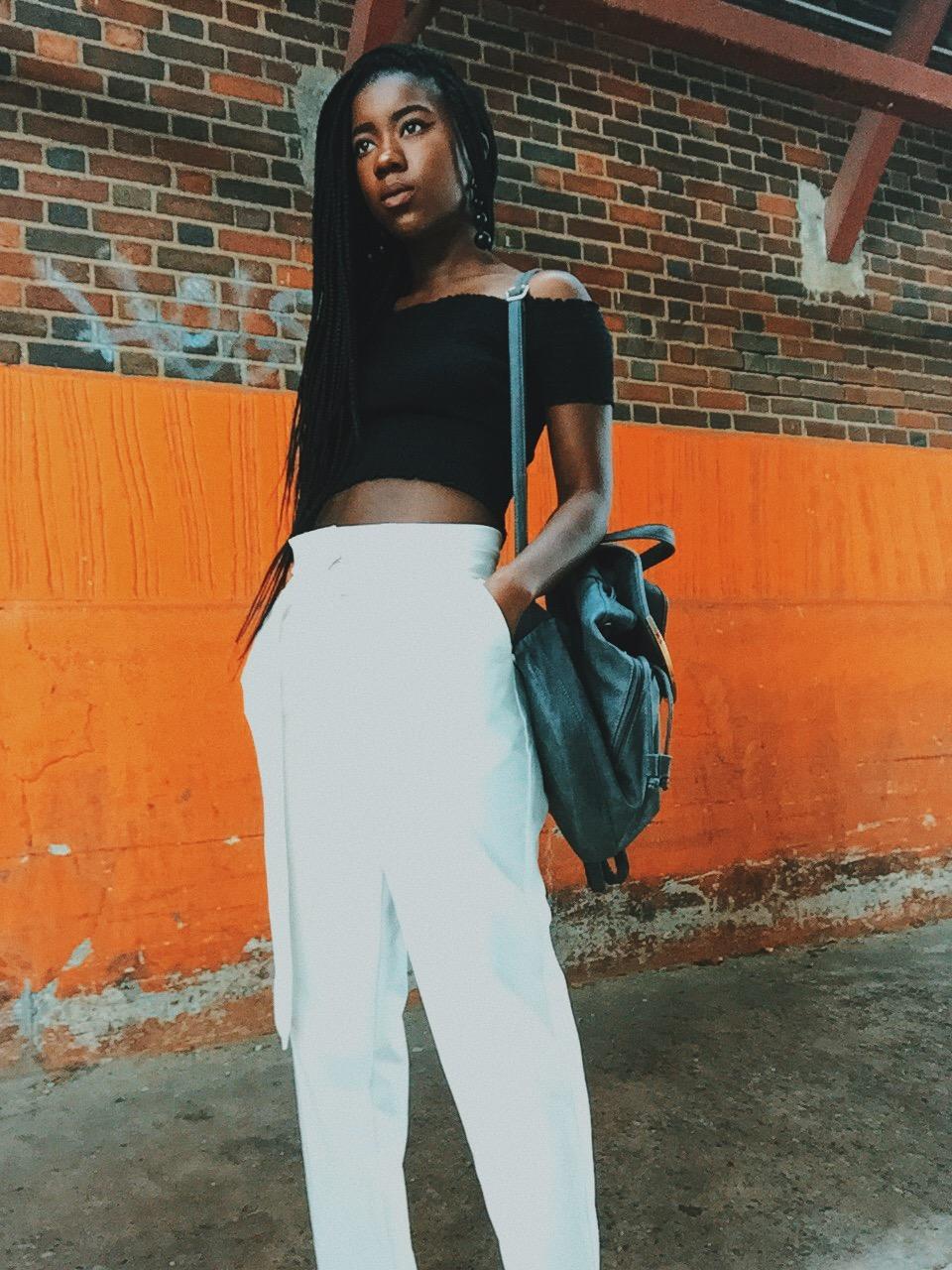 paper bag trouser trend