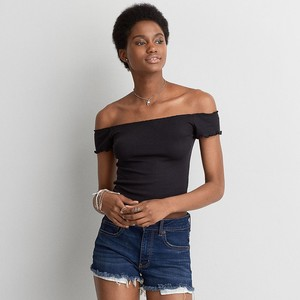 AEO LETTUCE EDGE OFF-THE-SHOULDER T-SHIRT