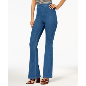 Hue Women's High-Waisted Denim Flare Leggings