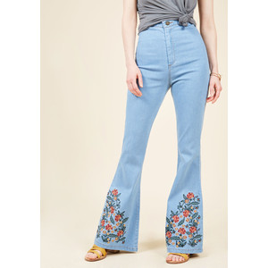 Collectif Floral I Know Flared Jeans
