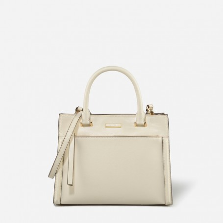 cream STRUCTURED HANDBAG