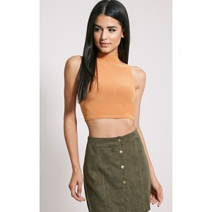SAYLOR RUST SLEEVELESS SLINKY CROP TOP