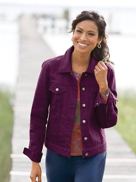 purple Twill Jean Jacket
