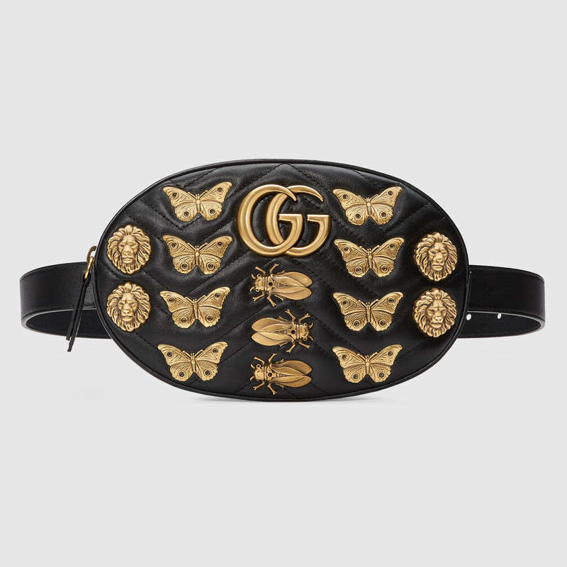 GG Marmont animal studs leather belt bag