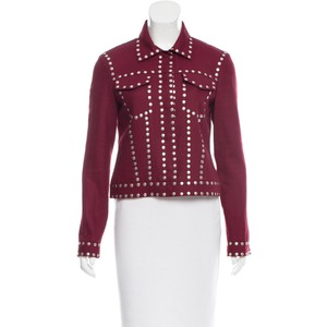 BCBGMAXAZRIA RUNWAY STUDDED DENIM JACKET