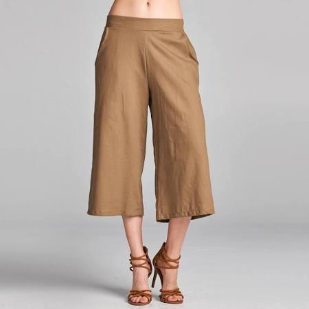 Linen Wide Leg Culottes