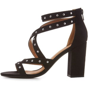 Qupid Studded Crisscross Dress Sandals