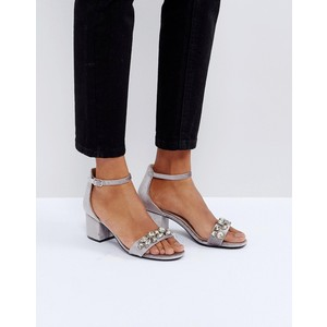 Faith Derry Velvet Embellished Block Heeled Sandals