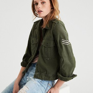 AE CROPPED & PATCHED MILITARY JACKET